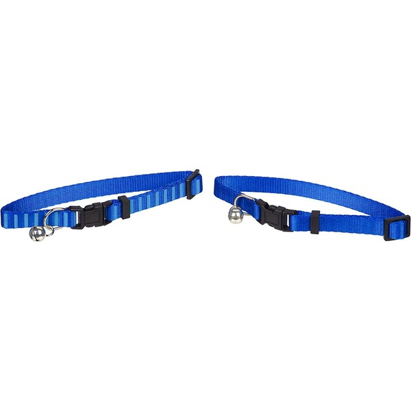 Petco Nylon Adjustable Classic Fashion Cat Collar In Blue Pack Of 2 Collars