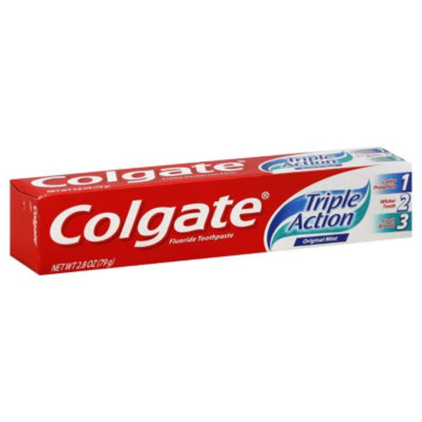 Colgate Triple Action Original Mint Fluoride Toothpaste