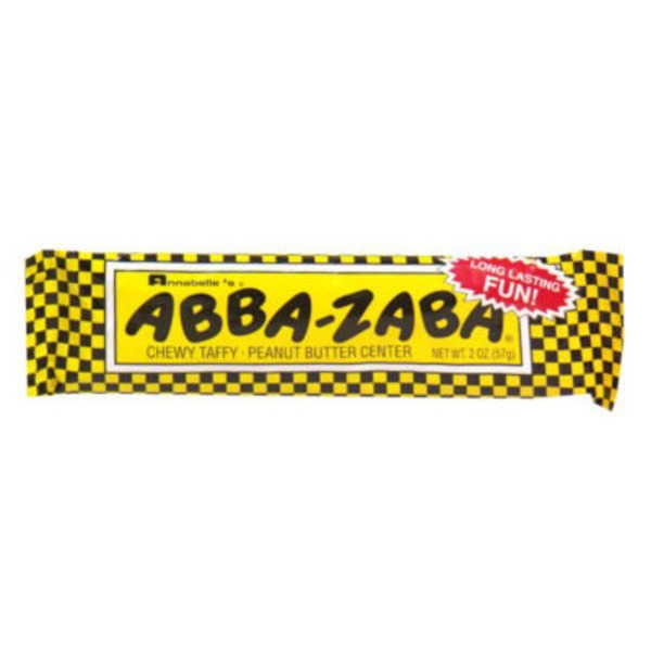 Annabelle's Abba Zabba Chewy Taffy Peanut Butter Center Candy Bar
