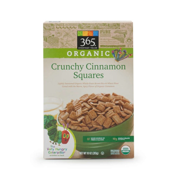 365 Organic Crunchy Cinnamon Squares Cereal