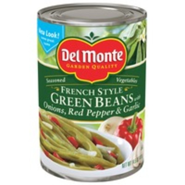 Del Monte French Style with Onions Red Pepper & Garlic Green Beans