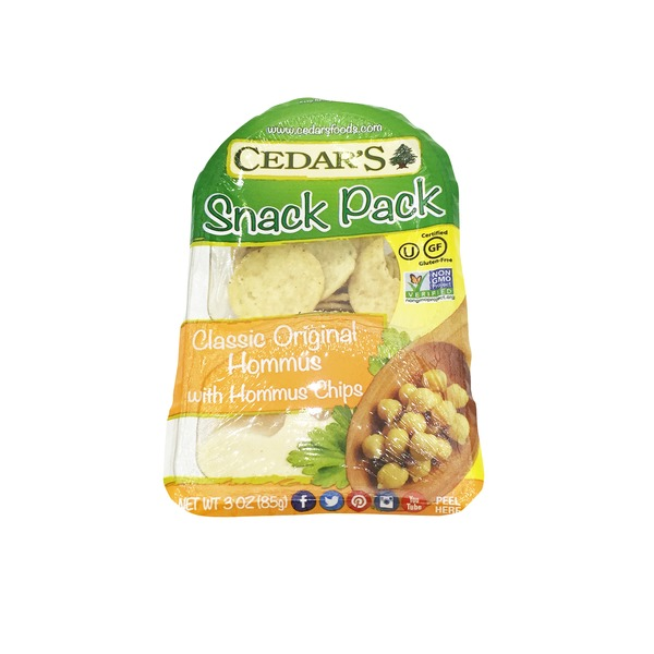 Cedar Snack Pack Classic Original Hommus With Chips
