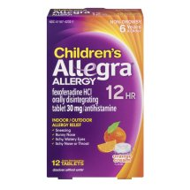 Allegra Children's 12 Hour Non-Drowsy Indoor and Outdoor Allergy Relief Orally Disintegrating Tablets 12ct