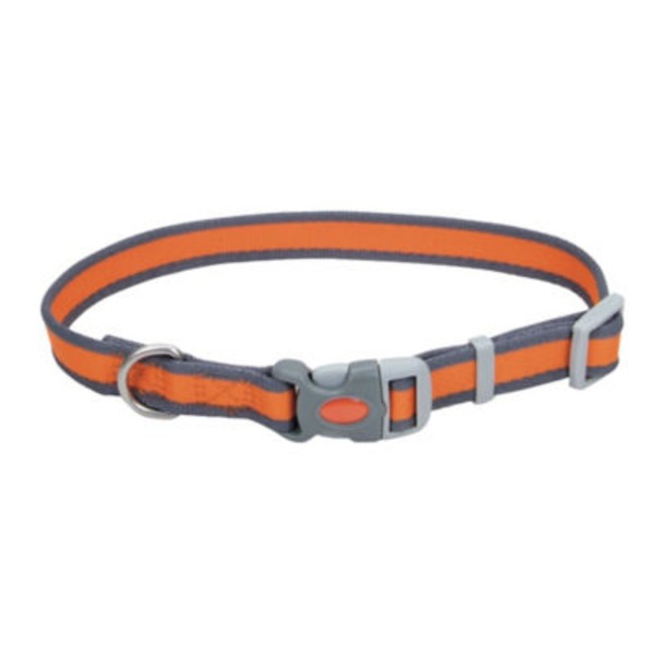 Coastal Pet Pet Attire Pro Bright Orange With Grey 3/4 Inch Adjustable Collar