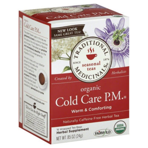 Traditional Medicinals Organic Herbal Tea Cold Care P.M. Warm & Comforting - 16 CT