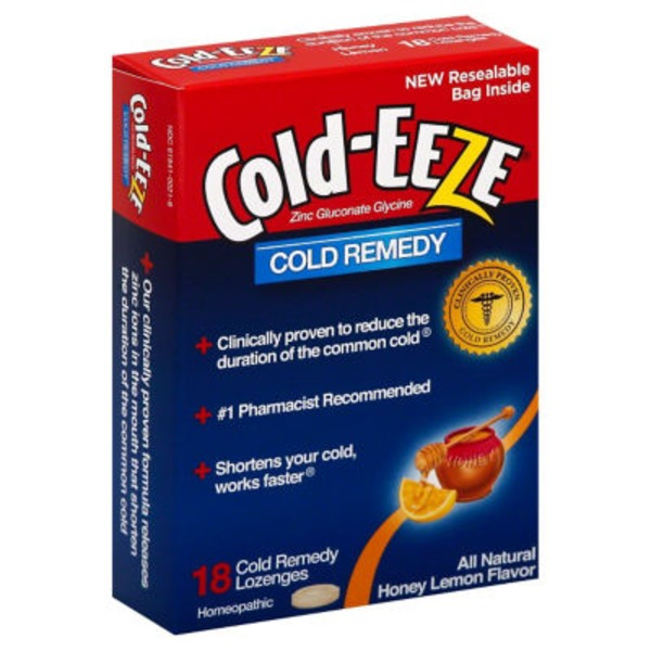 Cold-Eeze Lozenges Honey Lemon - 18 CT
