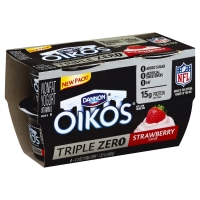 Dannon Oikos Greek Yogurt Triple Zero Strawberry - 4
