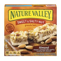 Nature Valley Granola Bars, Sweet and Salty Nut, Almond, 6 Bars - 1.2 oz, 1.2 OZ