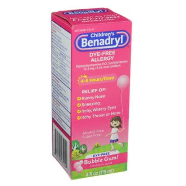 Children's Benadryl® Bubble Gum Flavored Liquid Allergy