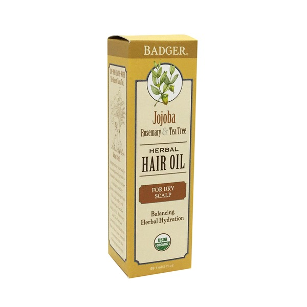 Badger Herbal Hair Oil, for Dry Scalp