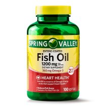Spring Valley Fish Oil Enteric Softgels, 1200 mg, 100 Ct
