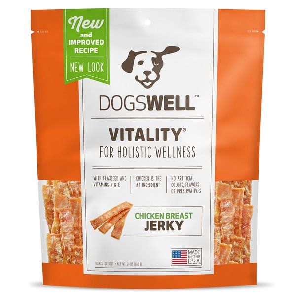 Dogswell Vitality for Holistic Wellness Chicken Breast Jerky Treats for Dogs