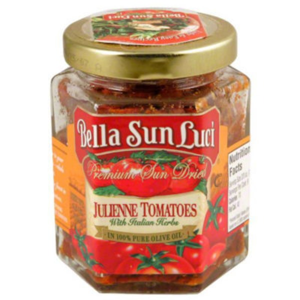 Bella Sun Luci Premium Sun Dried Julienne Tomatoes with Italian Herbs