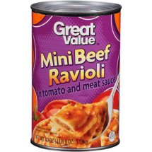 Great Value Mini Beef Ravioli in Tomato and Meat Sauce, 40 oz