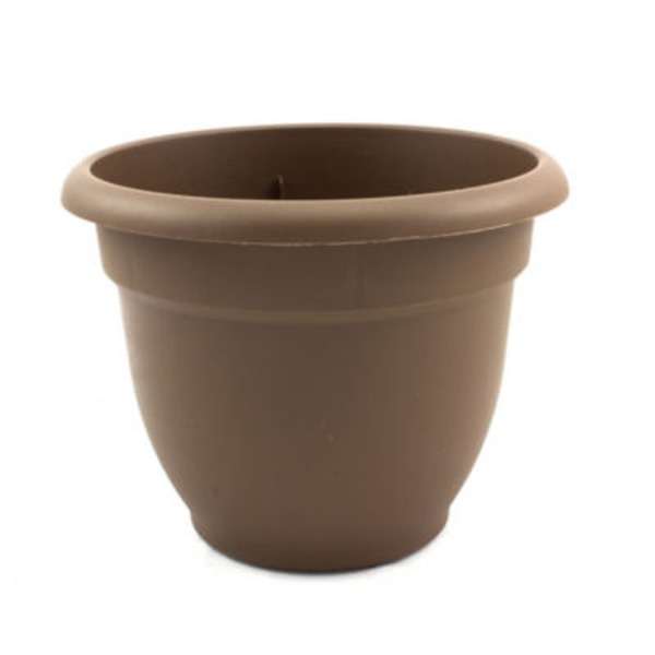 Fiskars Ariana 6 Inch Plastic Planter Chocolate Color