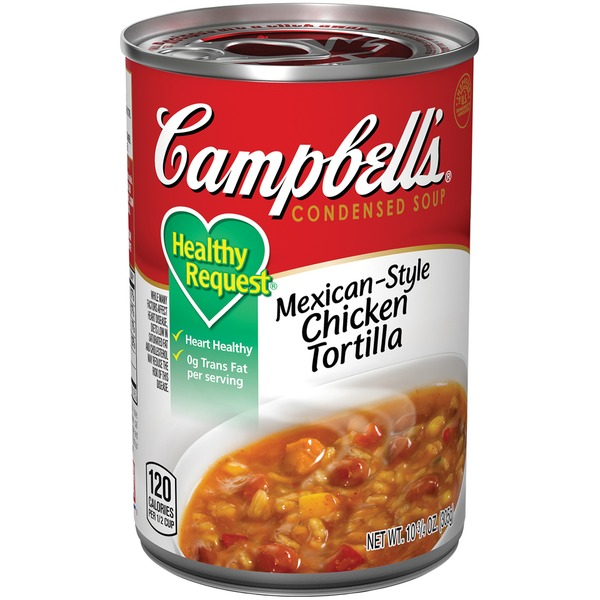 Campbell's Healthy Request Mexican-Style Chicken Tortilla Condensed Soup