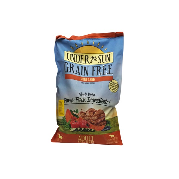 Under The Sun Grain Free With Lamb Adult Dog Food
