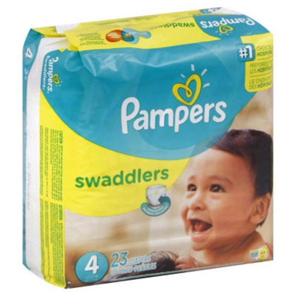 Pampers Swadlers Pampers Swaddlers Diapers Size 4 23 count Diapers