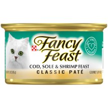 Purina Fancy Feast Classic Cod, Sole & Shrimp Feast Cat Food 3 oz. Can