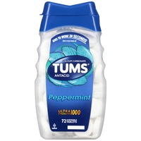 Tums Ultra Strength 1000 Peppermint Chewable Tablets Antacid