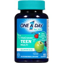 Bayer One A Day for Him VitaCraves Teen Multi Gummies, 60 Ct