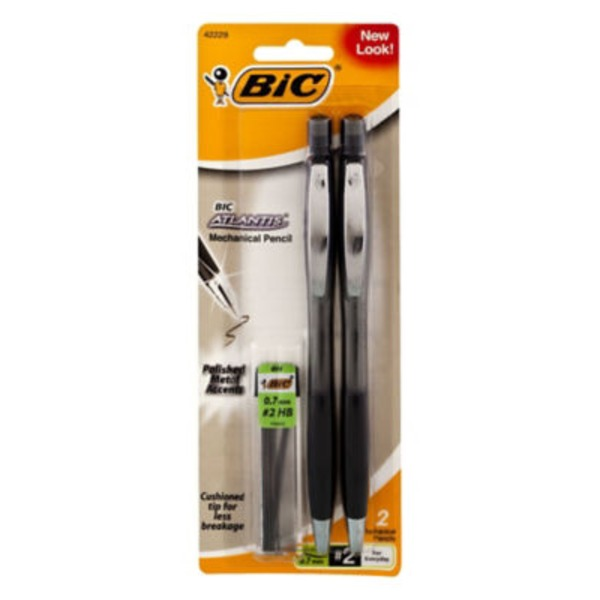 BiC Atlantis #2 .7mm Medium Mechanical Pencil - 2 CT