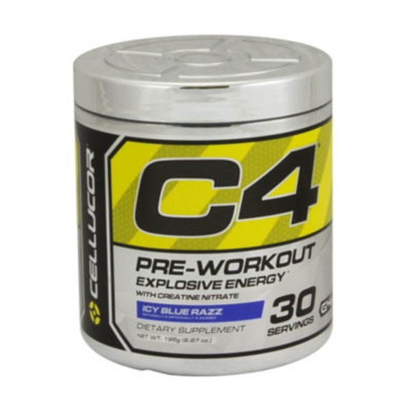 Cellucor C4 Pre Workout Dietary Supplement, Icy Blue Razz