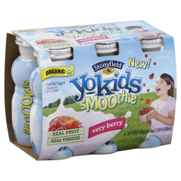 Stonyfield Organic Organic YoKids Smoothie Very Berry Lowfat Yogurt