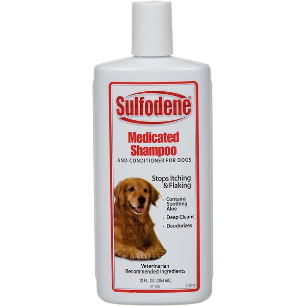 Sulfodene Medicated Shampoo & Conditioner for Dogs Stops Itching & Flaking