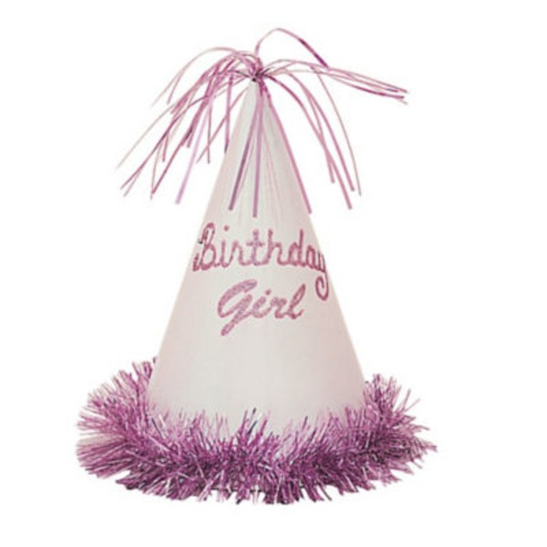 Unique Birthday Girl Glitter Party Hat