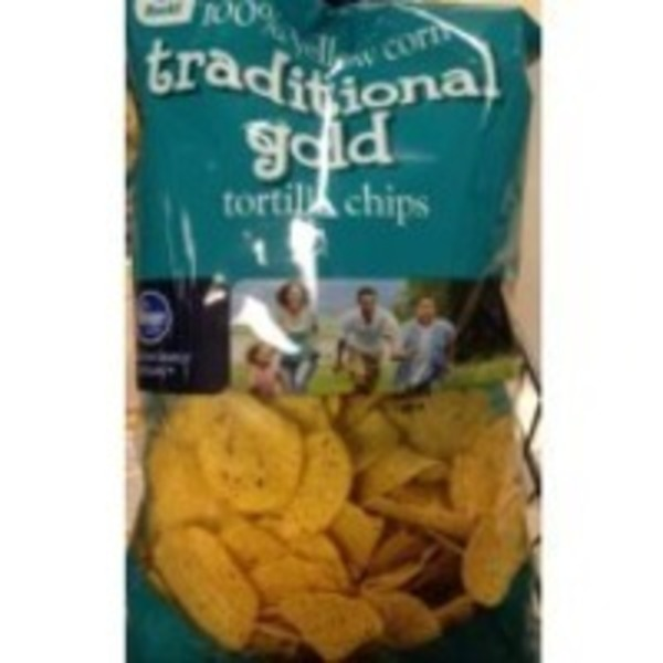 Kroger Traditional Gold 100% Yellow Corn Tortilla Chips