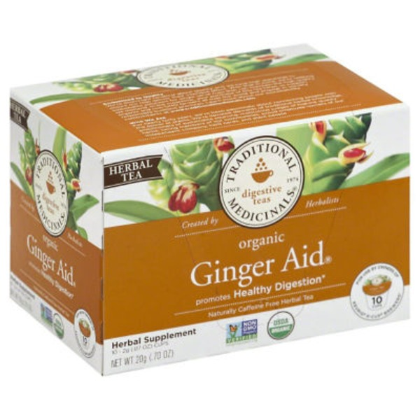 Traditional Medicinals Herbal Teas Organic Ginger Aid K-Cups - 10 CT