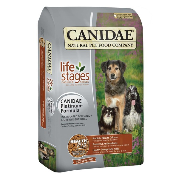 Canidae Life Stages Platinum Formula Formulated for Senior & Overweight Dogs