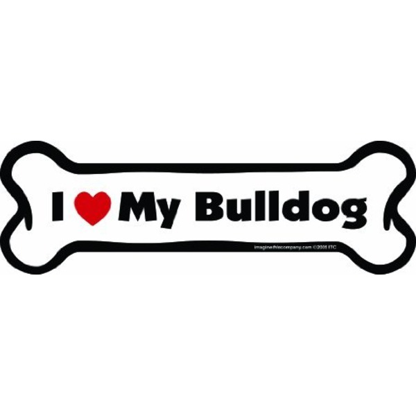 Bulldog Bone Car Magnet