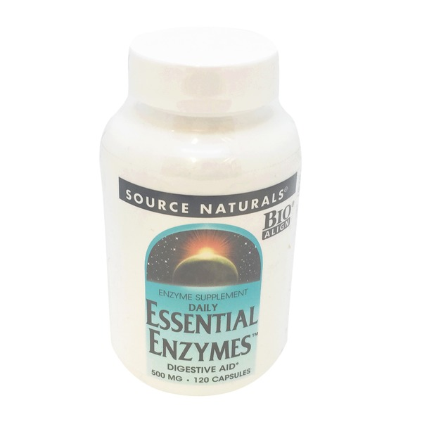 Source Naturals Essential Enzymes 500 Mg