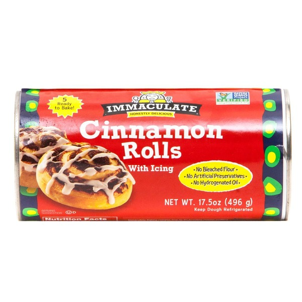 Immaculate Bakery Organic with Icing Cinnamon Rolls