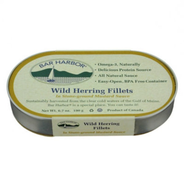 Bar Harbor Wild Herring Fillets in Stone-Ground Mustard Sauce