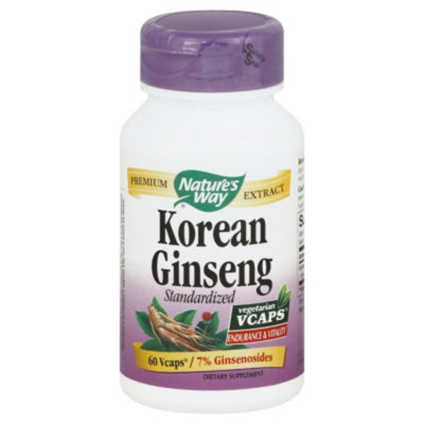 Nature's Way Korean Ginseng, Standardized, VCaps