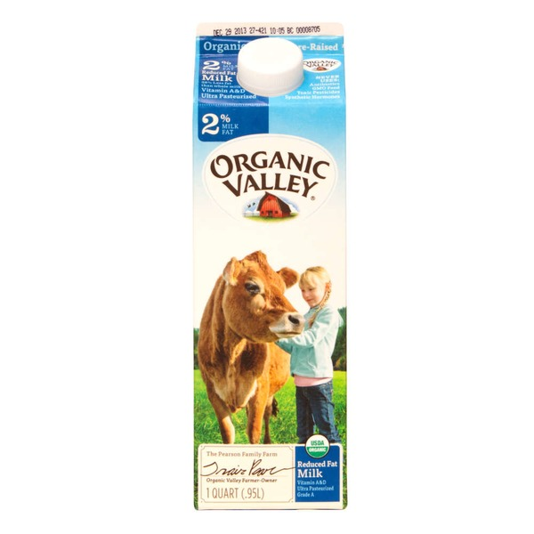 Organic Valley Reduced Fat Milk