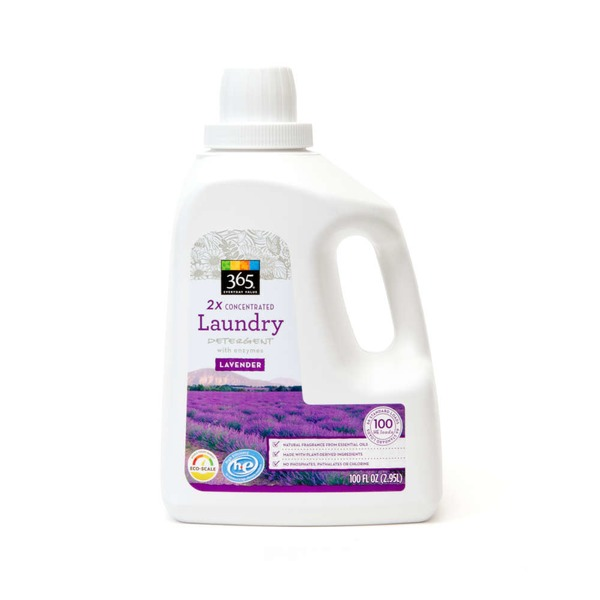 365 Laundry Detergent 2X Concentrated Lavender