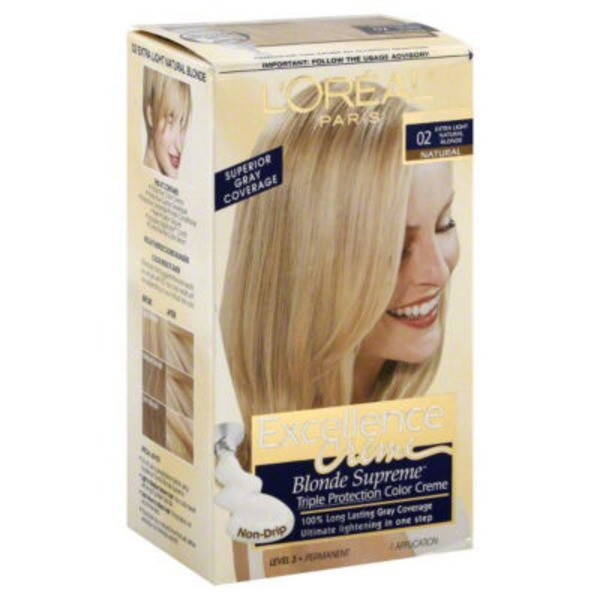 Excellence Creme Triple Protection Color 02 High-Lift Extra Light Natural Blonde Hair Color