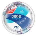 Dixie Everyday Paper Plates, 8 1/2', 100 count