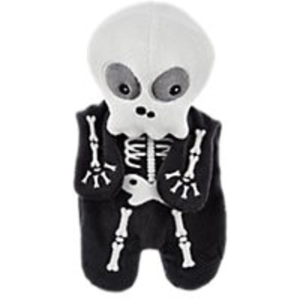 Petco Medium Halloween Skeleton Gid Flattie Dog Toy