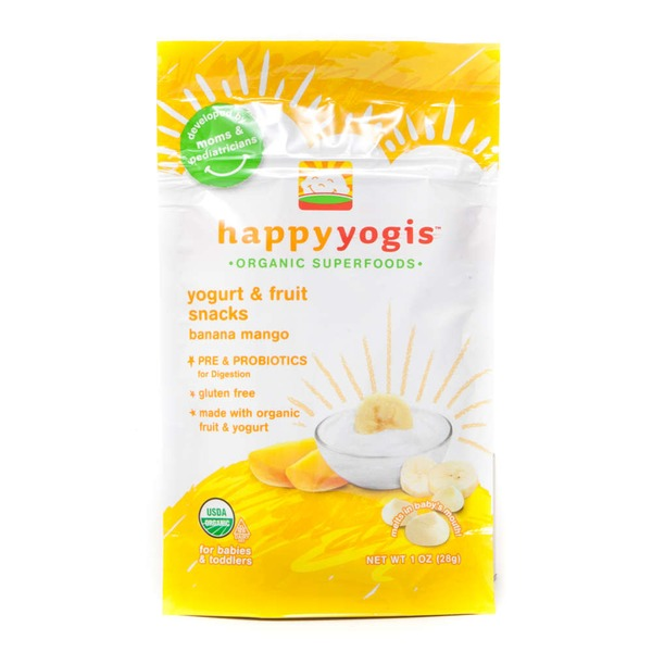 Happy Baby/Family Organic Yogis Banana Mango Yogurt & Fruit Snacks