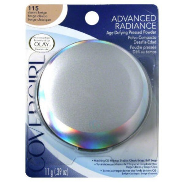 CoverGirl Advanced Radiance COVERGIRL Advanced Radiance Age-Defying Pressed Powder, Classic Beige .39 oz (11 g) Female Cosmetics