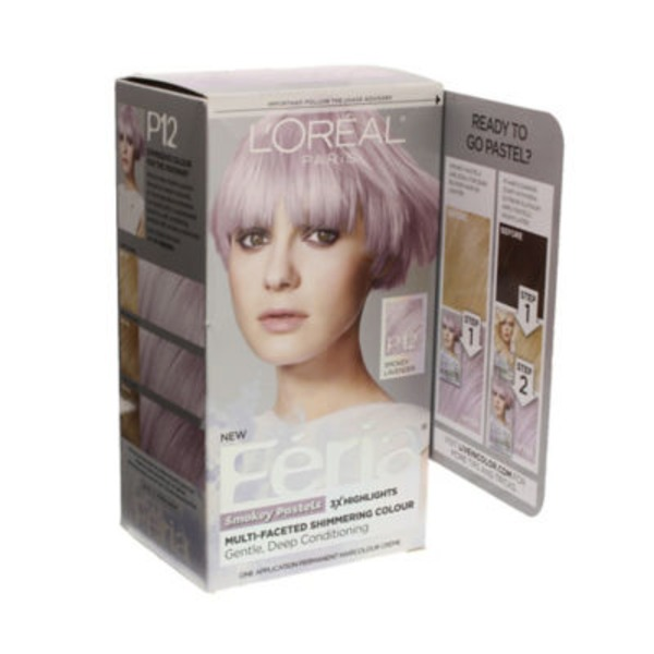 Feria Smokey Pastels P12 Smokey Lavender Hair Color