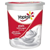Yoplait Yoplait Fat Free Plain yogurt