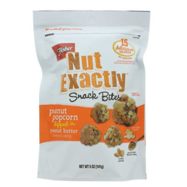 Fisher Nut Exactly Peanut Popcorn in Peanut Butter Snack Bites