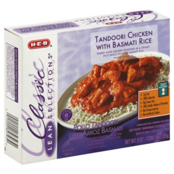 H-E-B Classic Lean Selections Tandoori Chicken With Basmati Rice