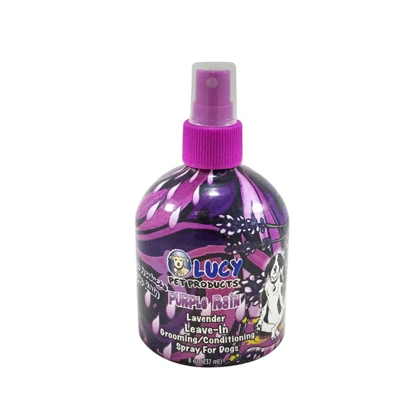 Lucy Pet Products Purple Rain Lavender Leave In Conditioning Dog Spray